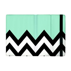 Mint Green Chevron Apple Ipad Mini Flip Case by AnjaniArt
