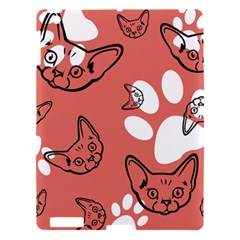 Face Cat Pink Cute Apple Ipad 3/4 Hardshell Case by AnjaniArt