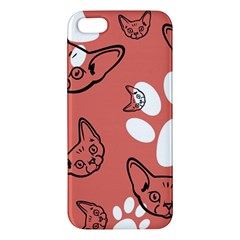 Face Cat Pink Cute Iphone 5s/ Se Premium Hardshell Case by AnjaniArt