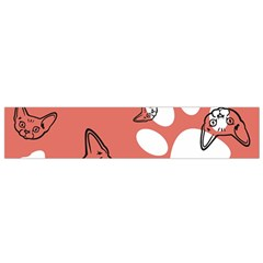 Face Cat Pink Cute Flano Scarf (small) by AnjaniArt