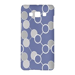 Round Blue Samsung Galaxy A5 Hardshell Case  by AnjaniArt