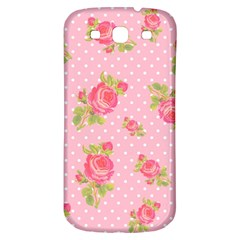 Rose Pink Samsung Galaxy S3 S Iii Classic Hardshell Back Case by AnjaniArt
