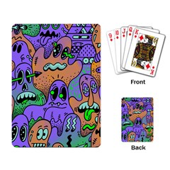 Monster Alien Ghost Playing Card by AnjaniArt