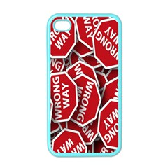 Road Sign Wrong Way Apple Iphone 4 Case (color) by AnjaniArt