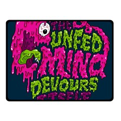 Unfedmind Fleece Blanket (Small) by AnjaniArt