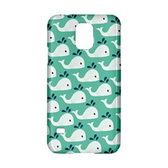 Whale Sea Blue Samsung Galaxy S5 Hardshell Case  by AnjaniArt
