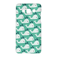 Whale Sea Blue Samsung Galaxy A5 Hardshell Case  by AnjaniArt