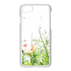 Carrot Flowers Apple iPhone 7 Seamless Case (White) by DeneWestUK