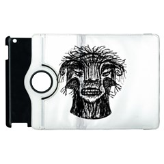 Fantasy Monster Head Drawing Apple Ipad 3/4 Flip 360 Case by dflcprints