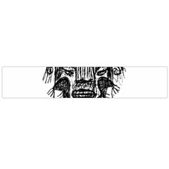 Fantasy Monster Head Drawing Flano Scarf (large)  by dflcprints