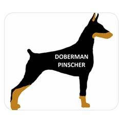 Doberman Pinscher Name Color Silo Black Double Sided Flano Blanket (Small)  by TailWags