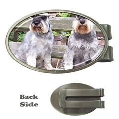 Two Miniature Schnauzers Money Clips (Oval)  by TailWags