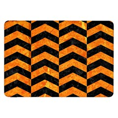Chevron2 Black Marble & Orange Marble Samsung Galaxy Tab 8 9  P7300 Flip Case by trendistuff