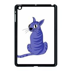 Blue Cat Apple Ipad Mini Case (black) by Valentinaart
