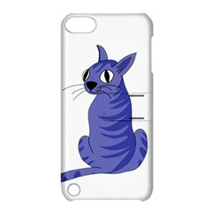 Blue Cat Apple Ipod Touch 5 Hardshell Case With Stand by Valentinaart