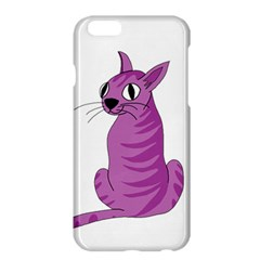 Purple Cat Apple Iphone 6 Plus/6s Plus Hardshell Case by Valentinaart