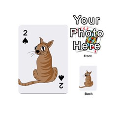Brown Cat Playing Cards 54 (mini)  by Valentinaart