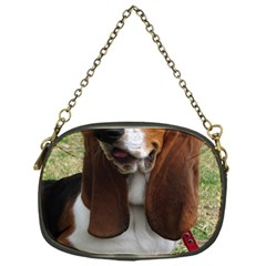 Basset Hound Sitting  Chain Purses (One Side)
