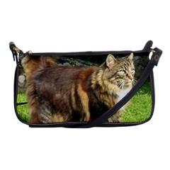 Norwegian Forest Cat Full  Shoulder Clutch Bags