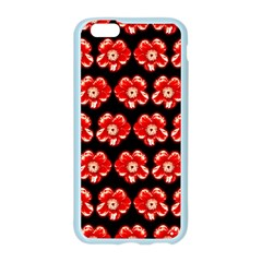 Red  Flower Pattern On Brown Apple Seamless iPhone 6/6S Case (Color) by Costasonlineshop