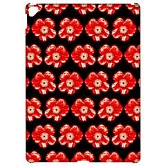Red  Flower Pattern On Brown Apple Ipad Pro 12 9   Hardshell Case