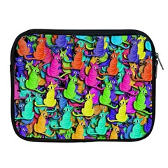 Colorful Cats Apple Ipad 2/3/4 Zipper Cases by Valentinaart