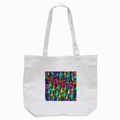 Colorful Cats Tote Bag (white) by Valentinaart
