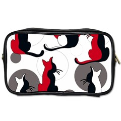 Elegant Abstract Cats  Toiletries Bags 2 Side by Valentinaart