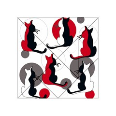 Elegant Abstract Cats  Acrylic Tangram Puzzle (4  X 4 ) by Valentinaart