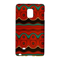 Orange Black And Blue Pattern Galaxy Note Edge by theunrulyartist