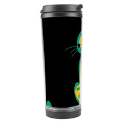 Colorful abstract cat  Travel Tumbler