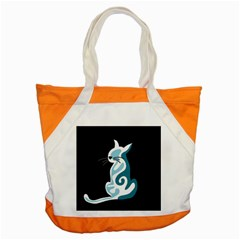 Blue Abstract Cat Accent Tote Bag by Valentinaart