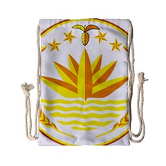 National Emblem Of Bangladesh Drawstring Bag (small) by abbeyz71