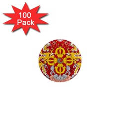 National Emblem Of Bhutan 1  Mini Magnets (100 Pack)  by abbeyz71