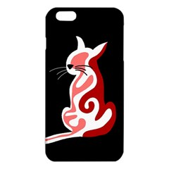 Red Abstract Cat Iphone 6 Plus/6s Plus Tpu Case by Valentinaart