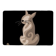 Brown Abstract Cat Samsung Galaxy Tab Pro 10 1  Flip Case by Valentinaart