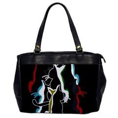 Street Cats Office Handbags by Valentinaart