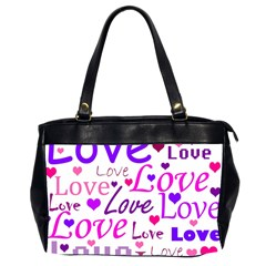 Love Pattern Office Handbags (2 Sides)  by Valentinaart