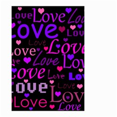 Love Pattern 2 Small Garden Flag (two Sides) by Valentinaart