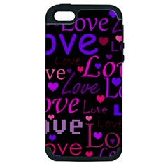 Love Pattern 2 Apple Iphone 5 Hardshell Case (pc+silicone) by Valentinaart