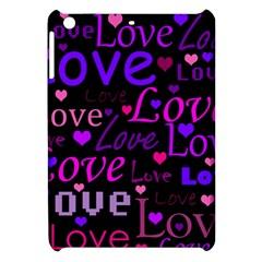 Love Pattern 2 Apple Ipad Mini Hardshell Case by Valentinaart