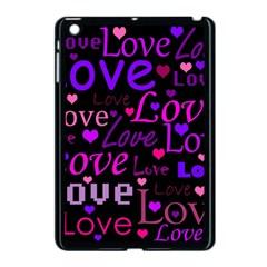 Love pattern 2 Apple iPad Mini Case (Black) by Valentinaart