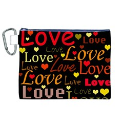 Love Pattern 3 Canvas Cosmetic Bag (xl) by Valentinaart