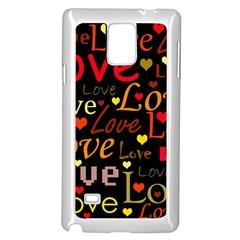 Love Pattern 3 Samsung Galaxy Note 4 Case (white) by Valentinaart