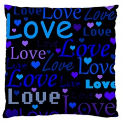 Blue Love Pattern Standard Flano Cushion Case (one Side) by Valentinaart