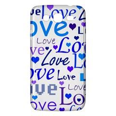 Blue And Purple Love Pattern Samsung Galaxy Mega 5 8 I9152 Hardshell Case  by Valentinaart