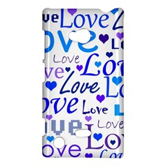 Blue And Purple Love Pattern Nokia Lumia 720 by Valentinaart