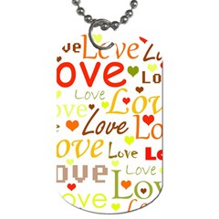 Valentine s Day Pattern Dog Tag (two Sides) by Valentinaart