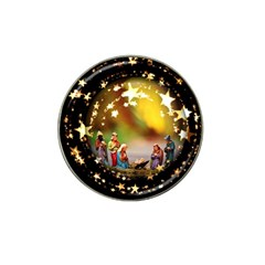 Christmas Crib Virgin Mary Joseph Jesus Christ Three Kings Baby Infant Jesus 4000 Hat Clip Ball Marker by yoursparklingshop