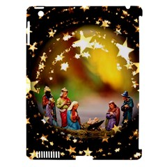Christmas Crib Virgin Mary Joseph Jesus Christ Three Kings Baby Infant Jesus 4000 Apple Ipad 3/4 Hardshell Case (compatible With Smart Cover) by yoursparklingshop